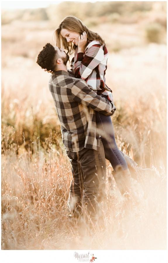 Outdoor engagement photo shoot before wedding by Warwick Rhode Island photographers of Massart Photography RI MA CT
