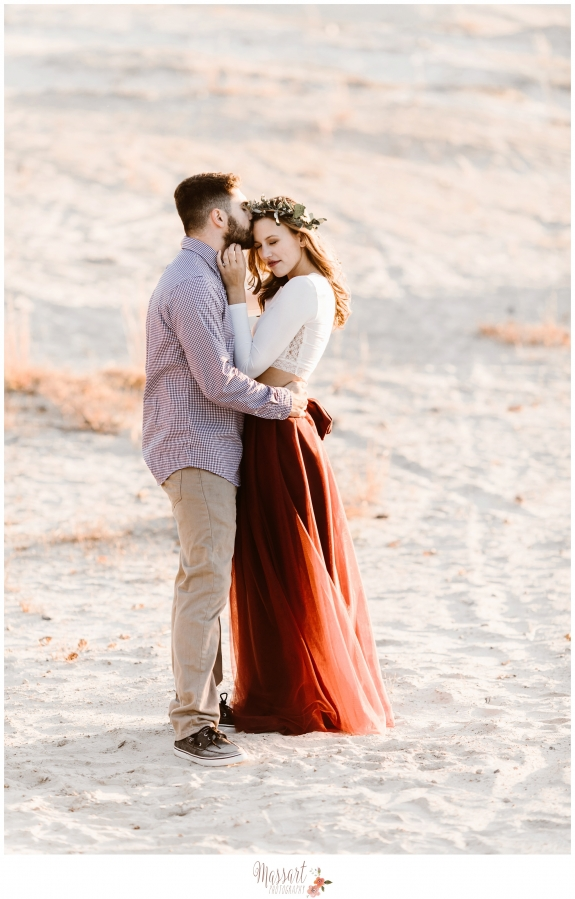 Outdoor beach engagement photo shoot before wedding by Warwick Rhode Island photographers of Massart Photography RI MA CT