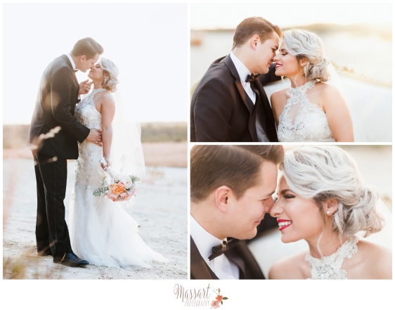 Outdoor beach pics of bride and groom by Massart Photography RI MA CT