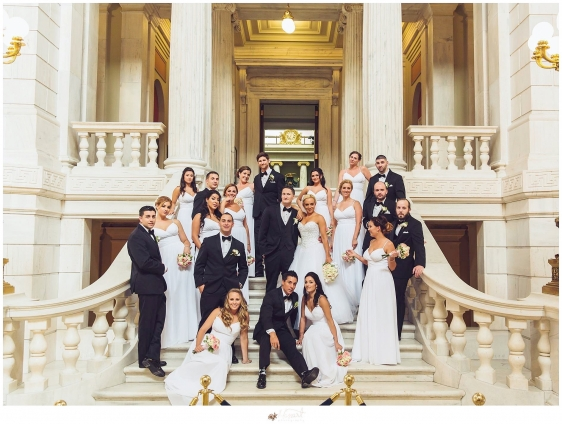 Wedding portrait of bridal party by Rhode Island photographer of Massart Photography RI MA CT