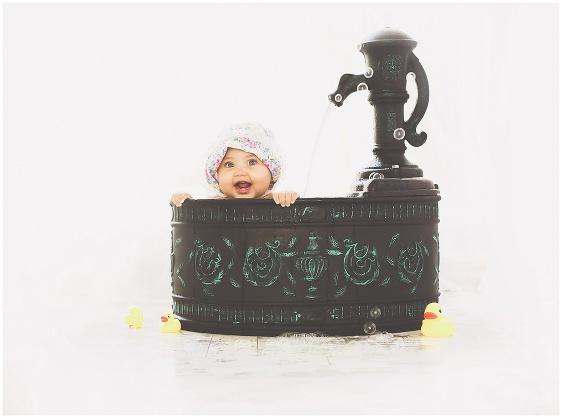 A first birthday studio baby portrait with Rhode Island photographers of Massart Photography RI, CT, MA