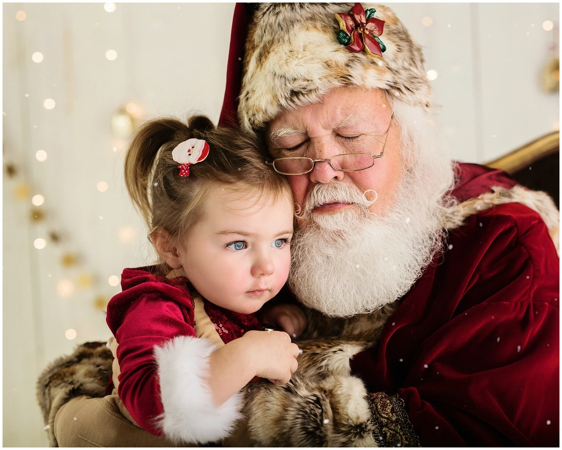 a baby photography portrait with santa with rhode island photographers of massart photography RI, CT, MA