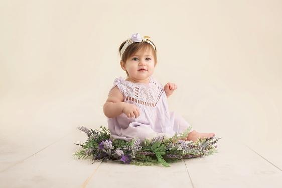 Milestone baby portrait by Warwick Rhode Island photographer of Massart Photography CT MA RI