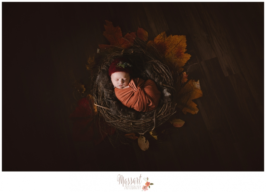 Newborn infant studio photograph by Warwick RI photographer