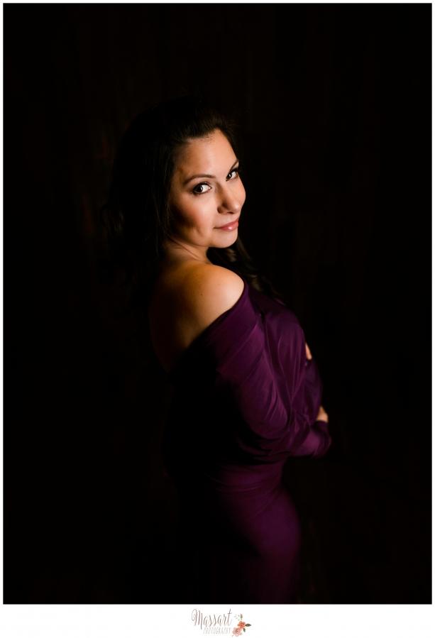 Studio maternity photo by Massart Photography RI MA CT