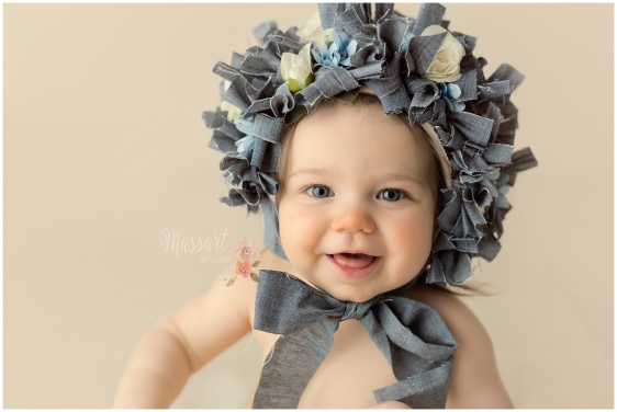 Studio baby pic by Massart photographers in Rhode Island
