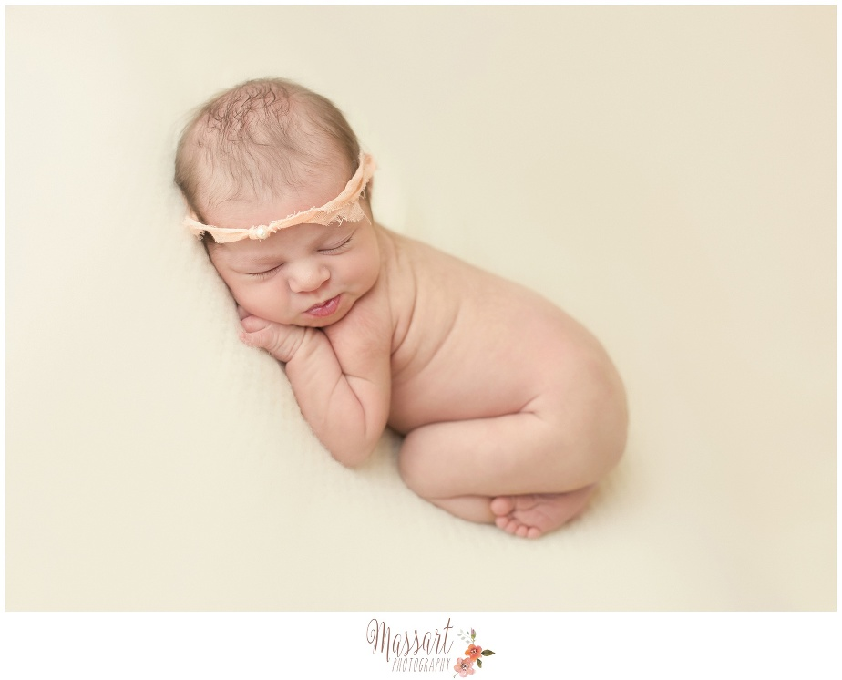 Newborn portrait of baby at in studio photography session RI, CT, MA