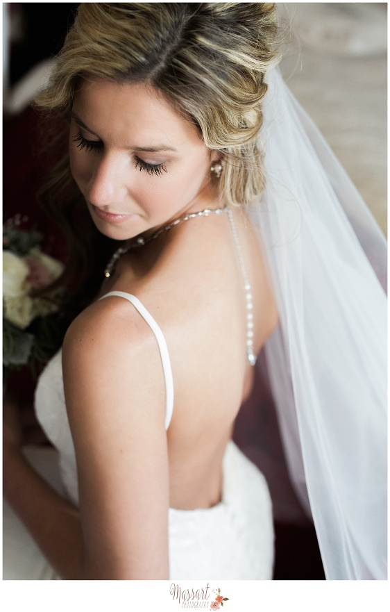 Bridal portrait at Five Bridge Inn in Massachusetts photographed by Massart Photograpy of Warwick Rhode Island