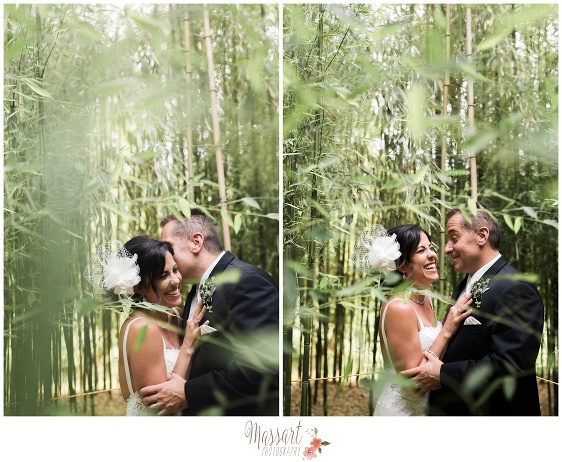 Outdoor pics of bride and groom photographed at Blithewold Mansion in Bristol Rhode Island by Massart Photography RI MA CT