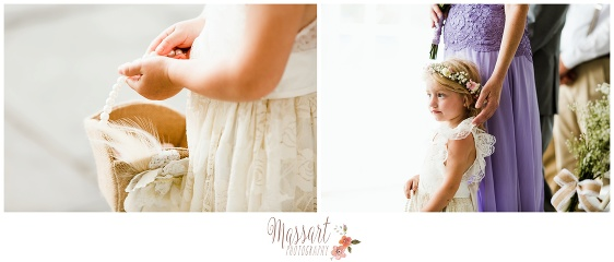 Wedding ceremony flower girl details photographed by Massart Photography RI MA CT