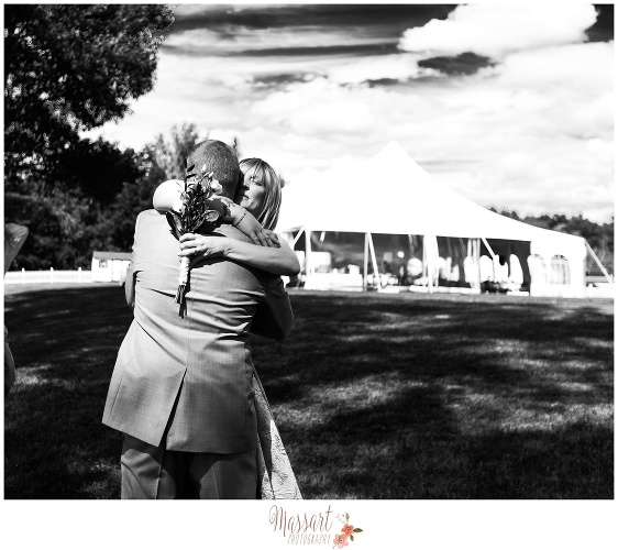 Black and white outdoor wedding portrait by Massart Photography RI MA CT
