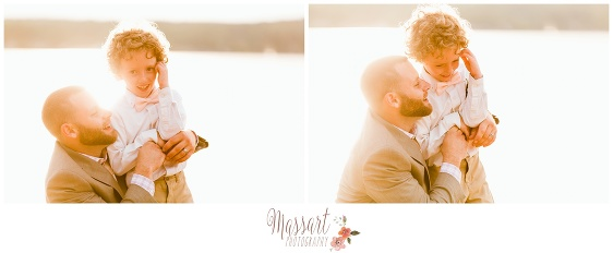 Outdoor beach pics of groom and ring bearer photographed by Massart Photography of Warwick Rhode Island