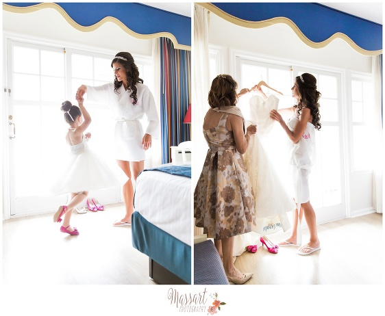 Pics of bride and family getting ready taken by Massart Photography RI MA CT
