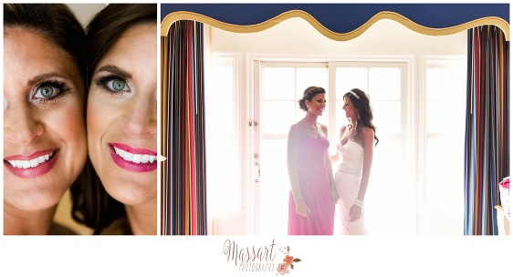 Pics of bride and bridesmaid photographed by Rhode Island photographer of Massart Photography RI MA CT