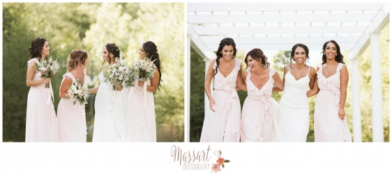 Fun bride and bridesmaid outdoor photos taken by Massart Photography of Warwick Rhode Island