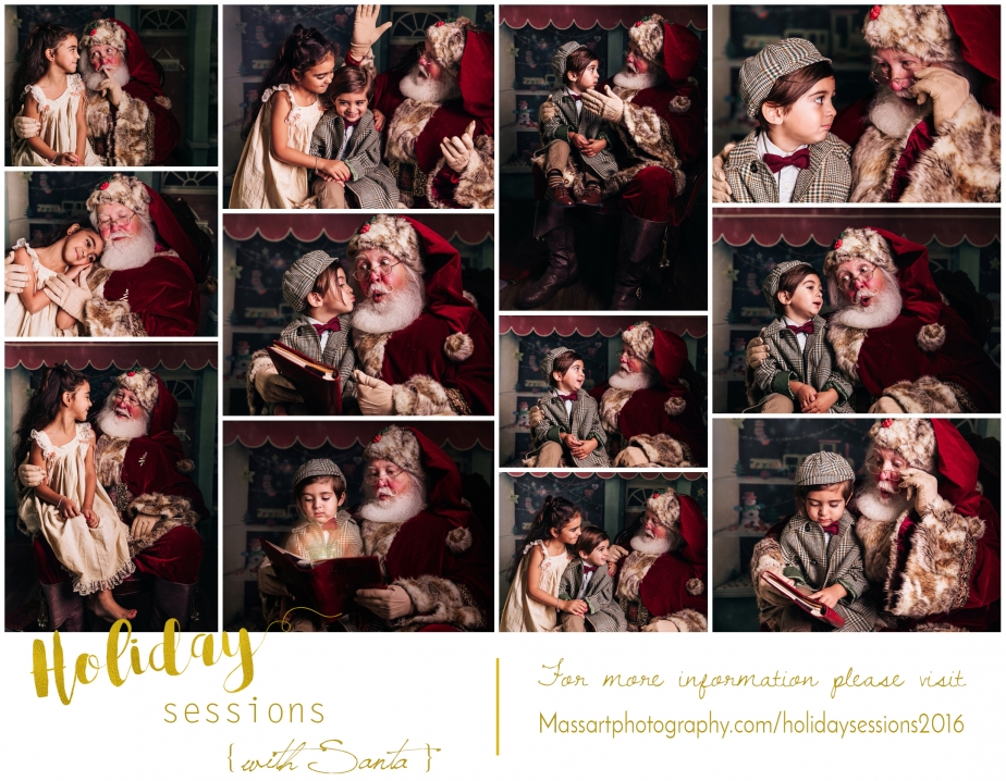 studio photography sessions with santa at warwick studio with massart photographers