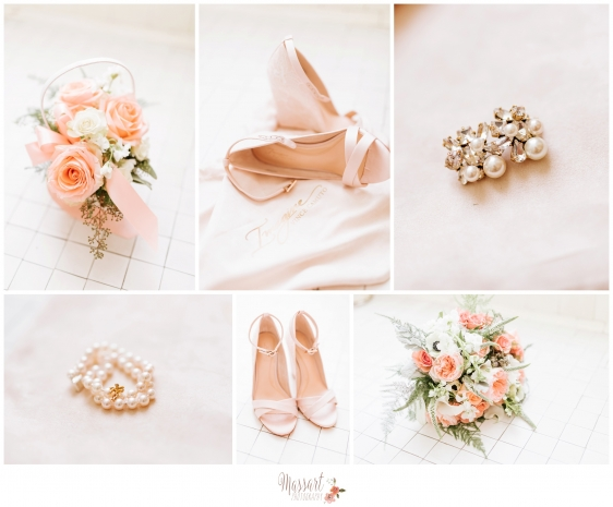 Pics of bridal details shoes bouquet jewelry photographed by Rhode Island photographers of Massart Photography MA RI CT