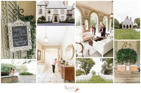 Pics of wedding day details antique furniture mansion wedding photographed by Massart Photography RI MA CT