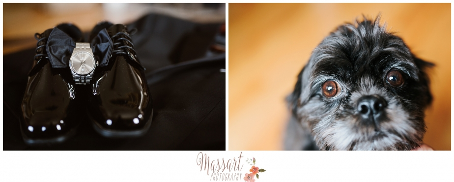 bowtie cufflink watch tux groom wedding gift dog