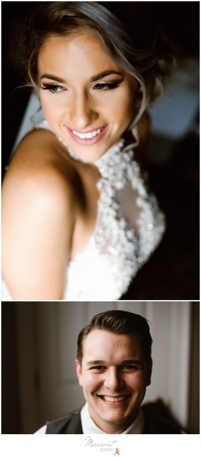 Wedding day portrait of bride photographed by Massart Photography of RI
