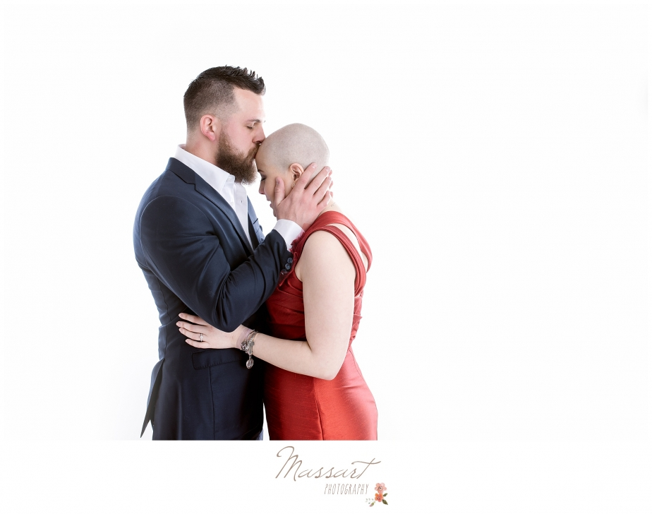 Wedding photographers capture engaged couple in inspiring photo shoot in studio