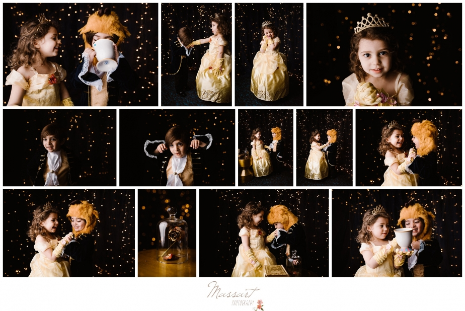 Beauty and the beast themed pictures at mini sessions in warwick photography studio in rhode island, RI, CT, MA
