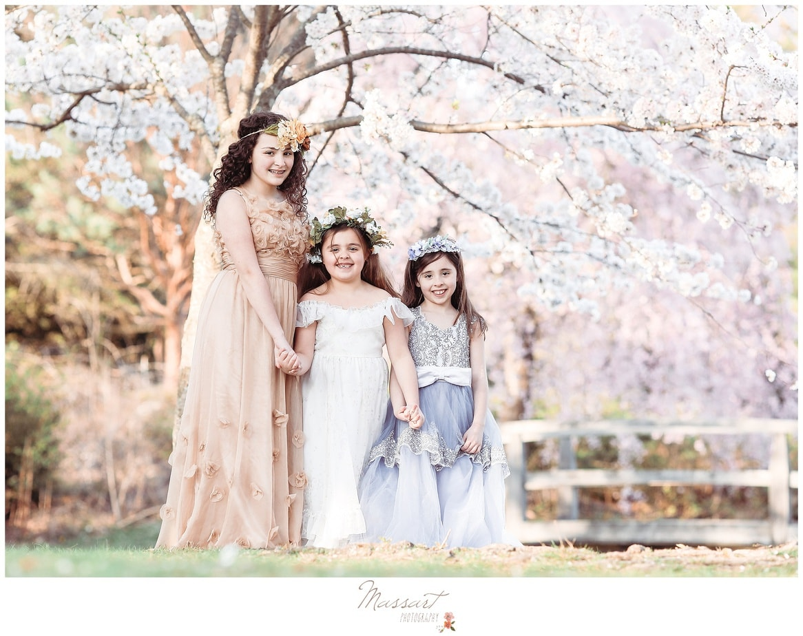 Spring styled family session in the park photographed by Massart Photography RI MA CT