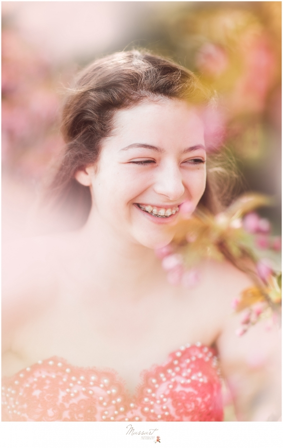 Candid portrait during a spring styled shoot photographed by Massart Photography of Warwick, Rhode Island.