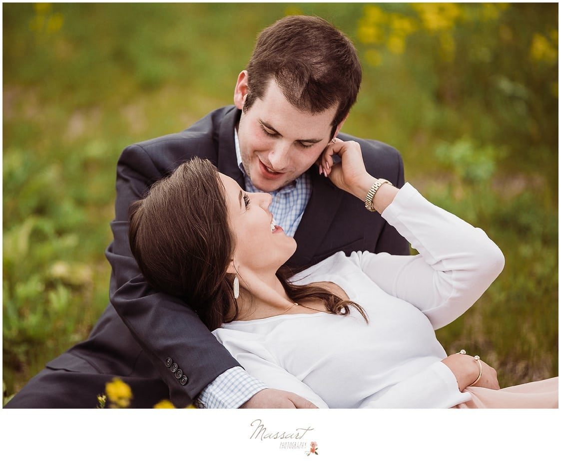 Spring engagement portrait session photographed by Massart Photography RI MA CT.