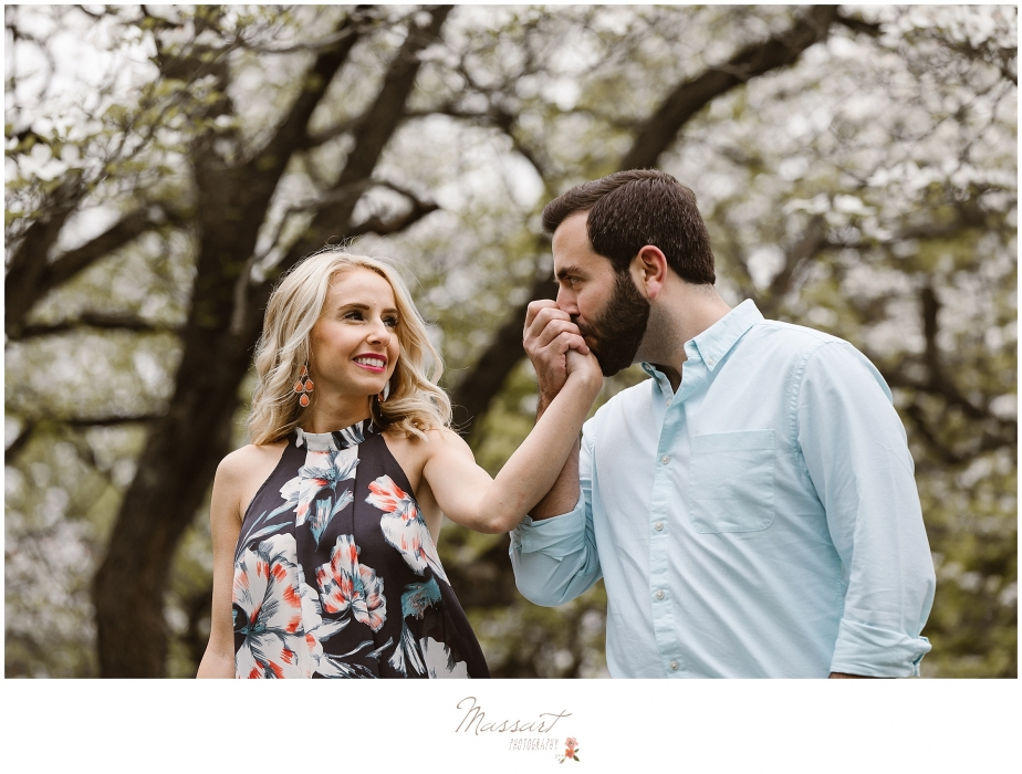 Engagement portrait of bride and groom to be photographed by Massart Photography, a Rhode Island newborn, family and wedding photographer.