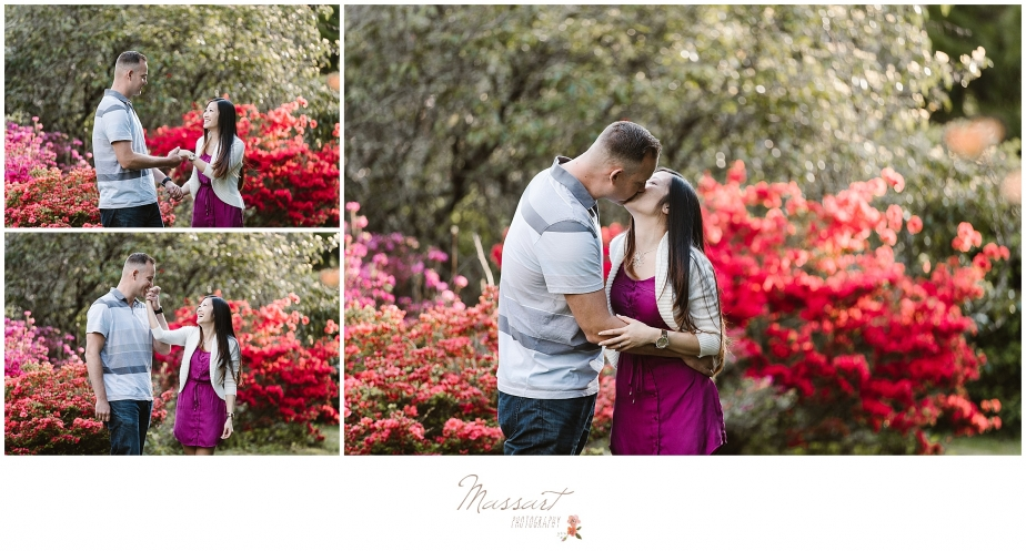 Sweet and romantic engagement pics photographed by Massart Photography of Rhode Island