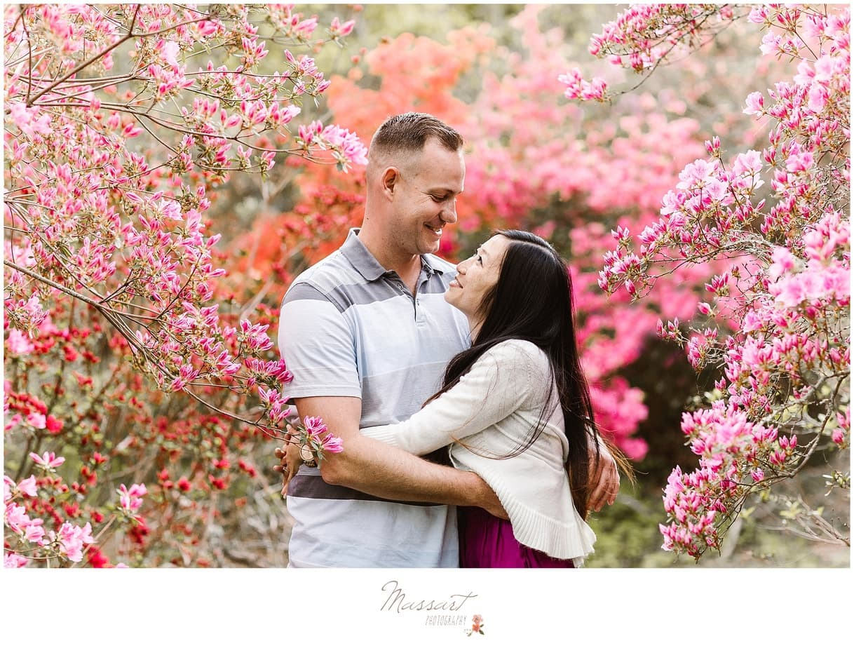 Romantic engagement portrait photographed outdoors by Massart Photography RI MA CT