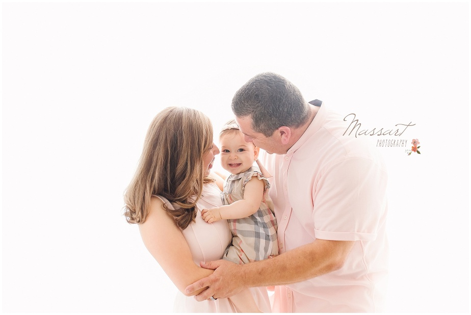 mother, father and daughter family photo by Massart Photography of Warwick, RI