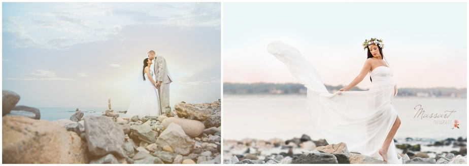 the towers Narragansett wedding and maternity photos by massart photographers RI CT MA beach session