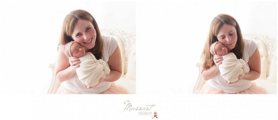 Mommy and me newborn and mother photos by Massart Photography, RI MA CT