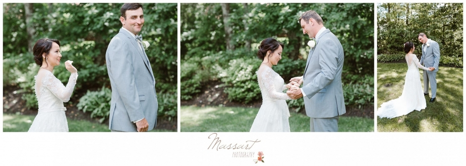 First look wedding portraits photographed by Massart Photography RI MA CT