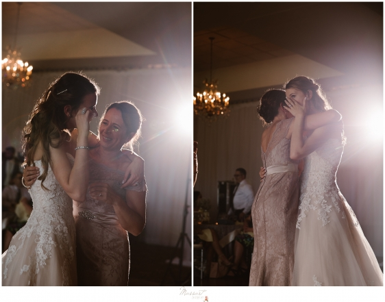 Mother and bride share a beautiful dance at kirkbrae country club in RI