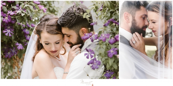 Romantic portraits of the bride and groom at kirkbrae country club by massart photographers in RI