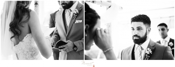kirkbrae country club wedding ceremony vow exchange captured by massart photography in RI