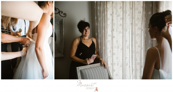 The bride and her family get ready before the Newport RI wedding photographed by Massart Photography RI