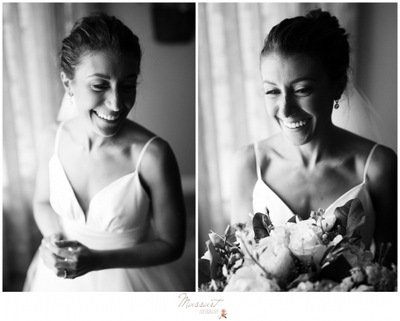 Photos of the bride before her Newport RI wedding photographed by Massart Photography of Warwick RI