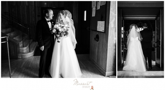 Photos of the bride and her father before the ceremony in Newport RI photographed by Massart Photography Rhode Island