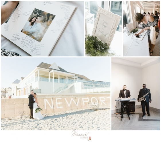 Photos outside and inside of the Newport Beach House RI photographed by Massart Photography Rhode Island