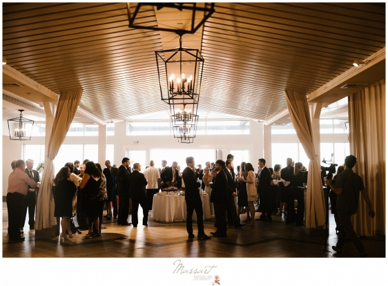 Photo of the reception at the Newport Beach House photographed by Massart Photography RI