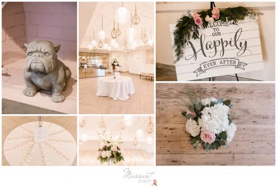Decorations around the Newport Beach House wedding photgraphed by Massart Photography Rhode Island