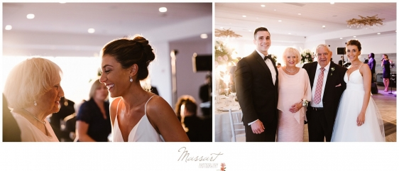 Bride and groom with grandparents at Newport RI summer wedding photographed by Massart Photography RI