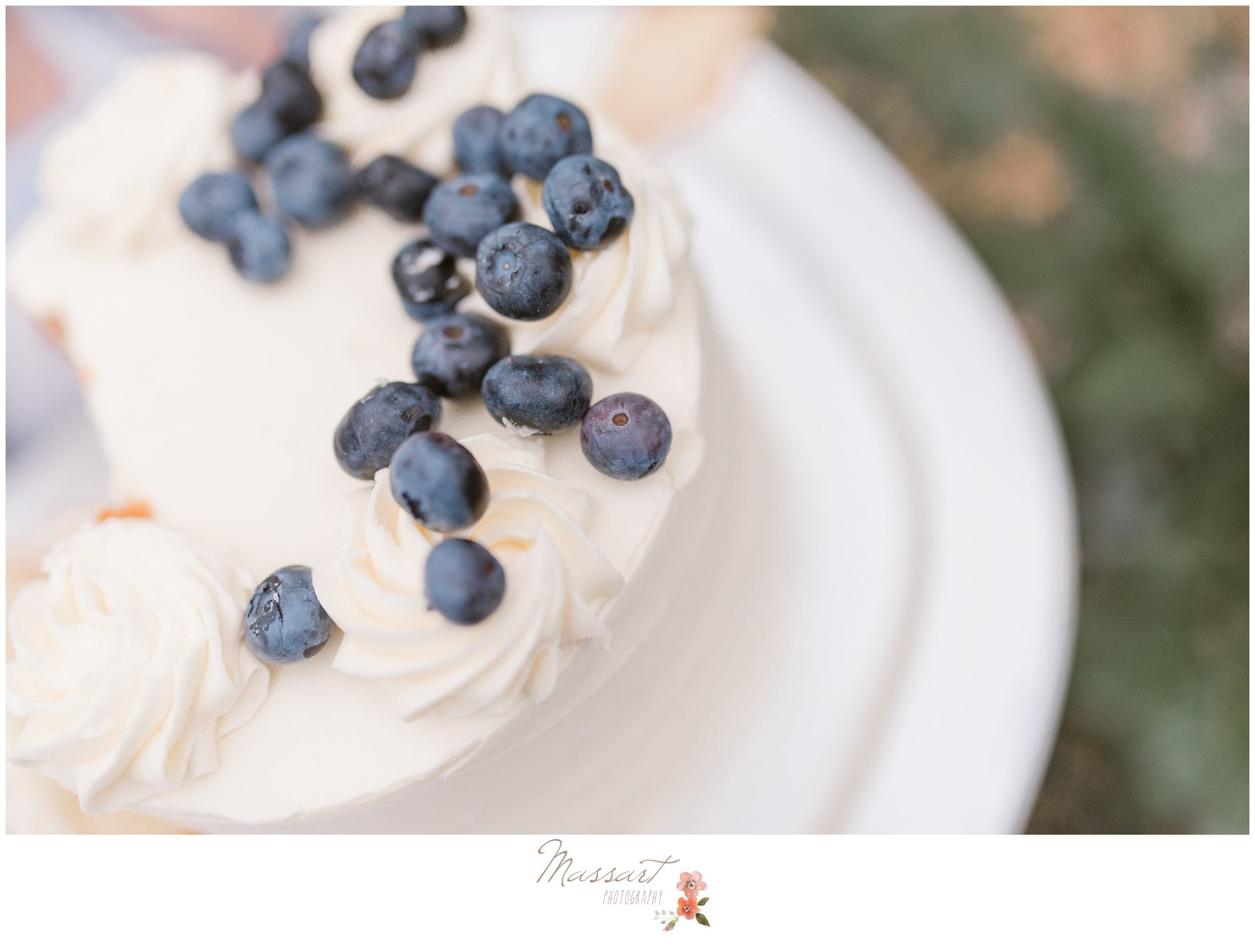 Detail portrait of the blueberry cake photographed by Massart Photography RI