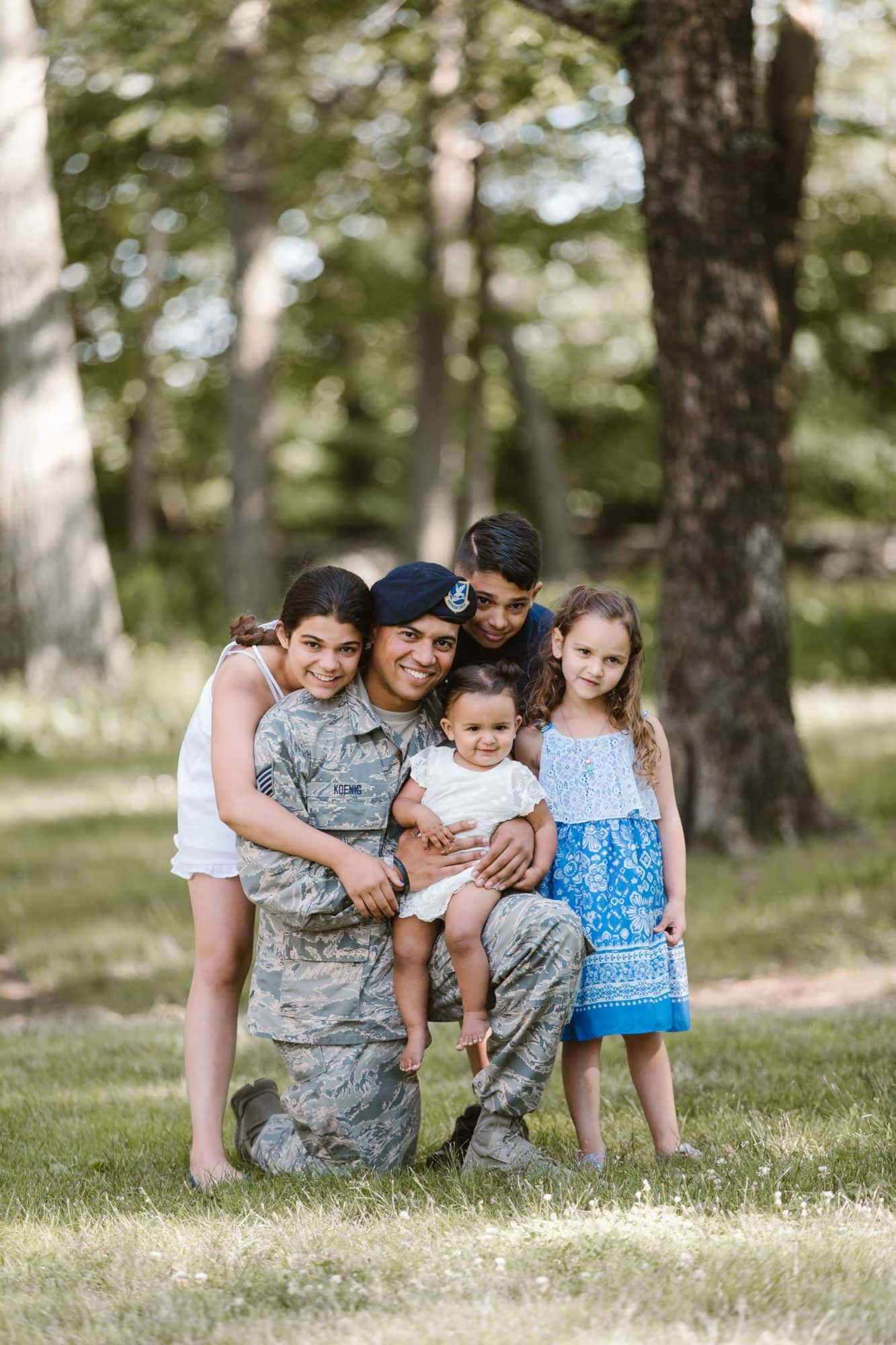 Outdoor family portraits during public safety event to thank those who serve our country photographed by Massart Photography Rhode Island