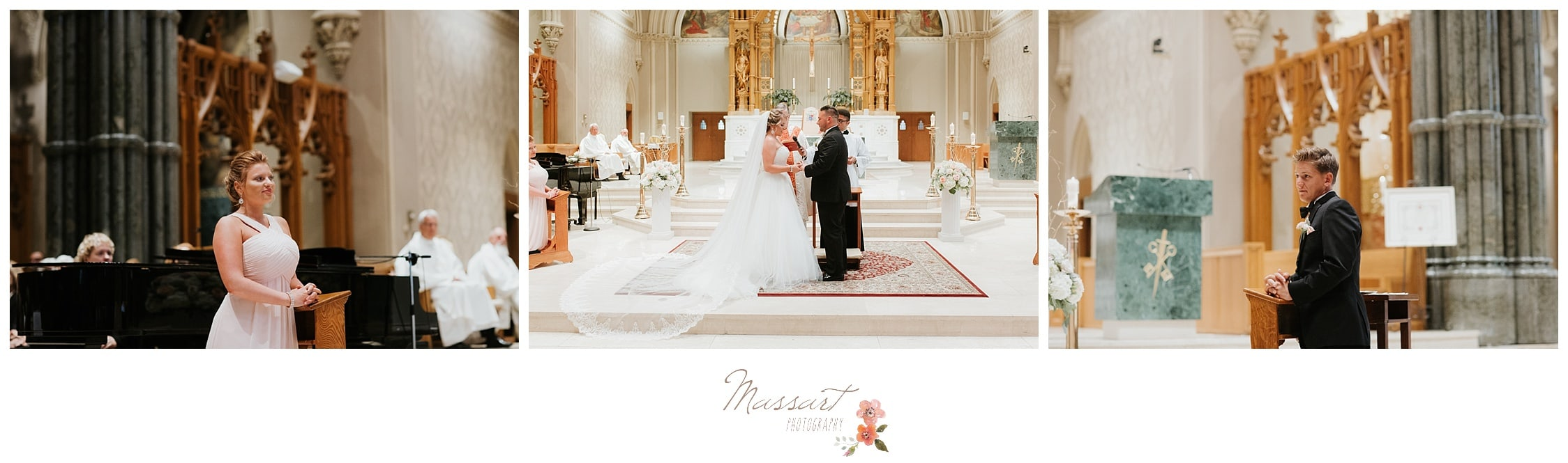 Portraits during the wedding ceremony in Providence Rhode Island photographed by Massart Photography RI