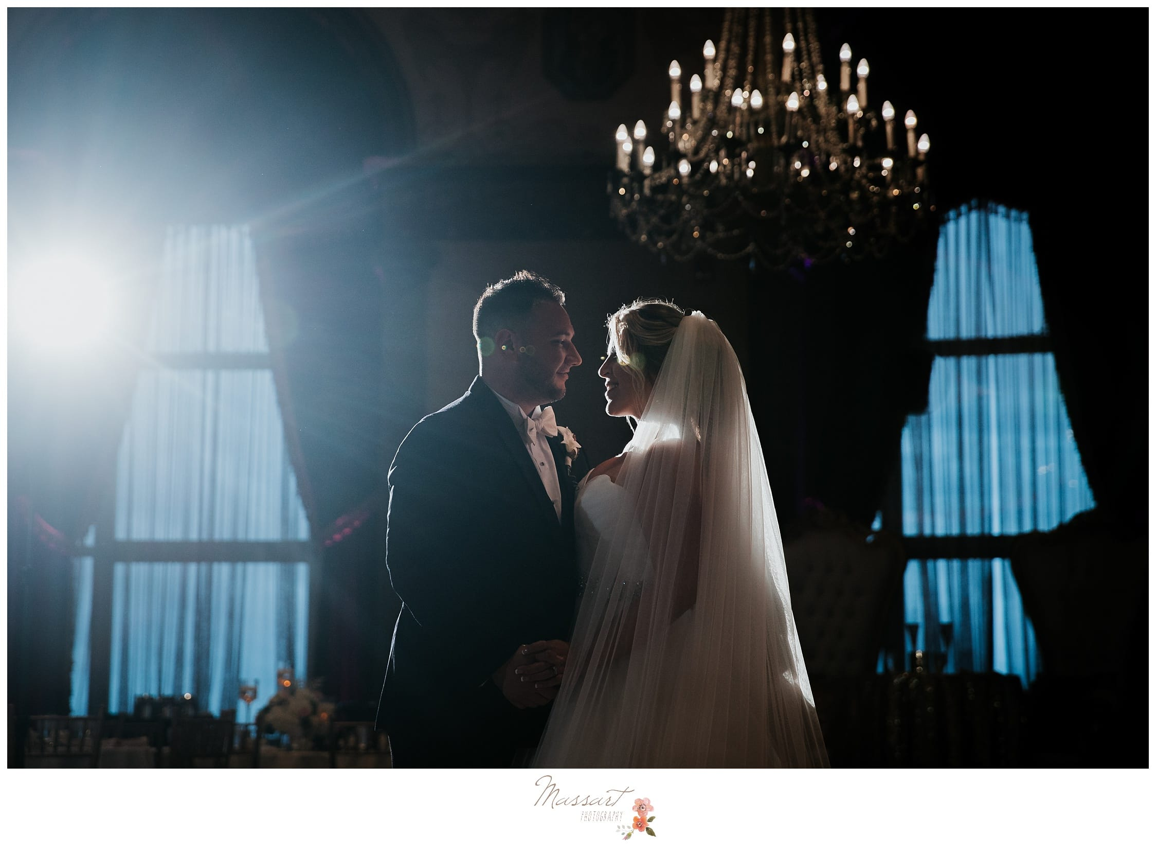 The newlywed's romantic first dance photographed by Massart Photography RI